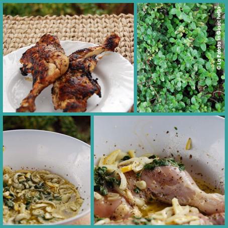 Pollo con marinatura greca