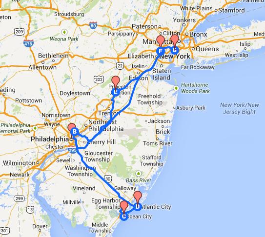 Itinerario una settimana Philadelphia, Atlantic City e New York