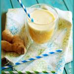 Centrifugato ananas, mela e zenzero
