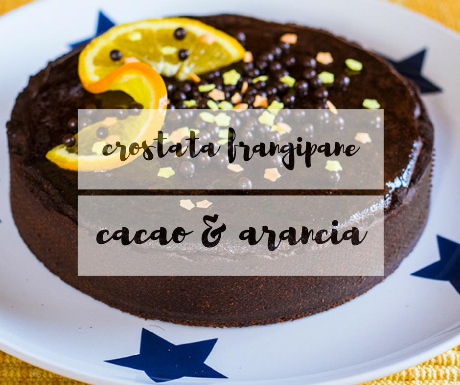 Crostata frangipane cacao e arancia