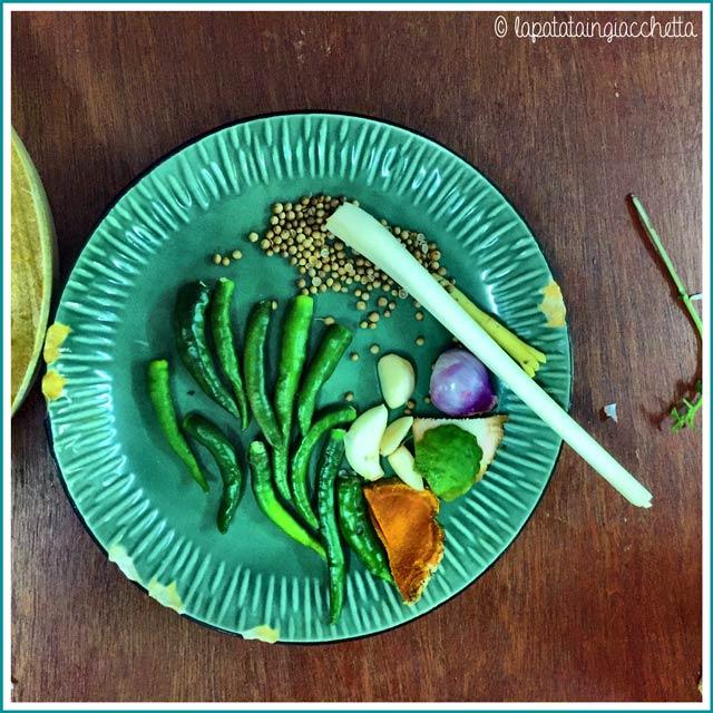 Un po' di ingredienti reperiti direttamente nell'orto dietro la scuola.